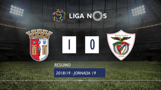 Liga NOS (19ªJ): Resumo SC Braga 1-0 Santa Clara