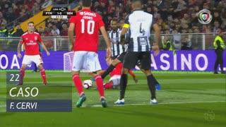 SL Benfica, Caso, F. Cervi aos 22'
