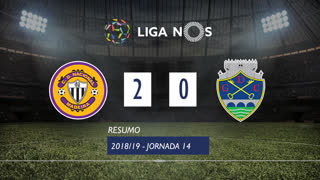 Liga NOS (14ªJ): Resumo CD Nacional 2-0 GD Chaves