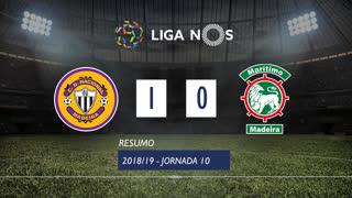 Liga NOS (10ªJ): Resumo CD Nacional 1-0 Marítimo M.