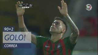 GOLO! Marítimo M., Correa aos 90'+2', Marítimo M. 1-3 Vitória SC