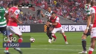 SC Braga, Caso, Ricardo Esgaio aos 5'