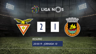 Liga NOS (10ªJ): Resumo CD Aves 2-1 Rio Ave FC