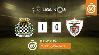 Liga NOS (21ªJ): Resumo Flash Boavista FC 1-0 Santa Clara