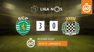 Liga NOS (8ªJ): Resumo Flash Sporting CP 3-0 Boavista FC