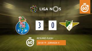 Liga NOS (4ªJ): Resumo Flash FC Porto 3-0 Moreirense FC