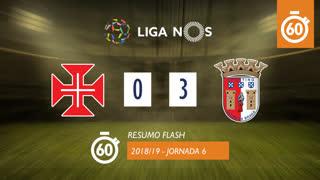 Liga NOS (6ªJ): Resumo Flash Os Belenenses 0-3 SC Braga