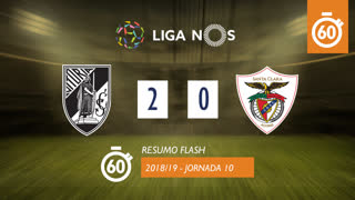 I Liga (10ªJ): Resumo Flash Vitória SC 2-0 Santa Clara