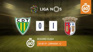 Liga NOS (12ªJ): Resumo Flash CD Tondela 0-1 SC Braga