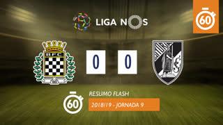 Liga NOS (9ªJ): Resumo Flash Boavista FC 0-0 Vitória SC
