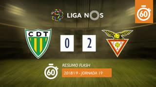 Liga NOS (19ªJ): Resumo Flash CD Tondela 0-2 CD Aves