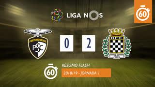 Liga NOS (1ªJ): Resumo Flash Portimonense 0-2 Boavista FC