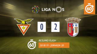 Liga NOS (20ªJ): Resumo Flash CD Aves 0-2 SC Braga