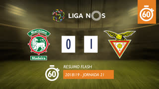 I Liga (21ªJ): Resumo Flash Marítimo M. 0-1 CD Aves