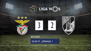 Liga NOS (1ªJ): Resumo SL Benfica 3-2 Vitória SC