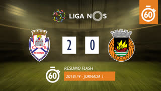 Liga NOS (1ªJ): Resumo Flash CD Feirense 2-0 Rio Ave FC