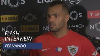 Liga (13ª): Flash interview Fernando