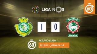 Liga NOS (28ªJ): Resumo Flash Vitória FC 1-0 Marítimo M.