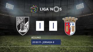 Liga NOS (8ªJ): Resumo Vitória SC 1-1 SC Braga