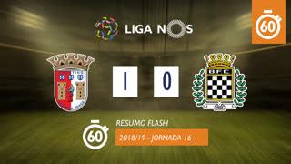 Liga NOS (16ªJ): Resumo Flash SC Braga 1-0 Boavista FC