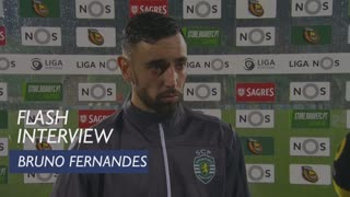 Liga (11ª): Flash interview Bruno Fernandes