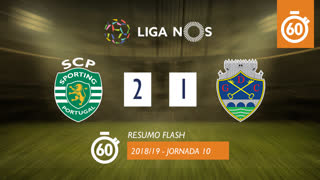 Liga NOS (10ªJ): Resumo Flash Sporting CP 2-1 GD Chaves