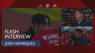 Liga (34ª): Flash Interview João Henriques