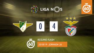 Liga NOS (26ªJ): Resumo Flash Moreirense FC 0-4 SL Benfica