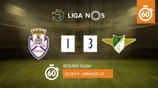 Liga NOS (23ªJ): Resumo Flash CD Feirense 1-3 Moreirense FC