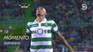 Sporting CP, Jogada, Raphinha aos 10'