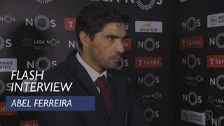 Liga (5ª): Flash interview Abel Ferreira