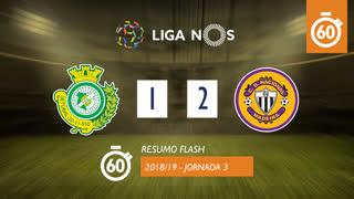 Liga NOS (3ªJ): Resumo Flash Vitória FC 1-2 CD Nacional