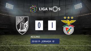 Liga NOS (18ªJ): Resumo Vitória SC 0-1 SL Benfica