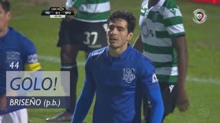 GOLO! Sporting CP, Briseño (p.b.) aos 44', CD Feirense 0-1 Sporting CP