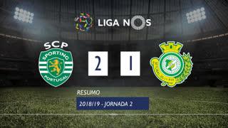 Liga NOS (2ªJ): Resumo Sporting CP 2-1 Vitória FC