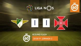 Liga NOS (3ªJ): Resumo Flash Moreirense FC 1-1 Belenenses