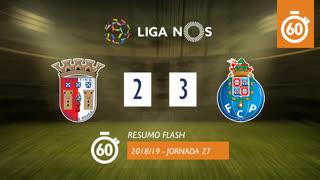 Liga NOS (27ªJ): Resumo Flash SC Braga 2-3 FC Porto