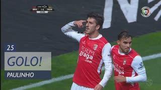 GOLO! SC Braga, Paulinho aos 25', SC Braga 2-0 Moreirense FC