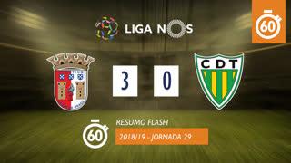 Liga NOS (29ªJ): Resumo Flash SC Braga 3-0 CD Tondela