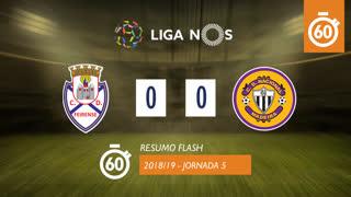 Liga NOS (5ªJ): Resumo Flash CD Feirense 0-0 CD Nacional