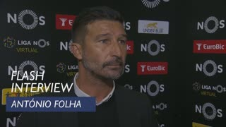 Liga (15ª): Flash interview António Folha
