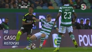 Sporting CP, Caso, Ristovski aos 40'