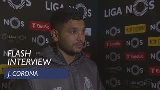 Liga (16ª): Flash interview J. Corona
