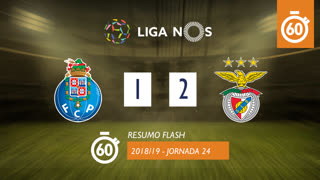 Liga NOS (24ªJ): Resumo Flash FC Porto 1-2 SL Benfica