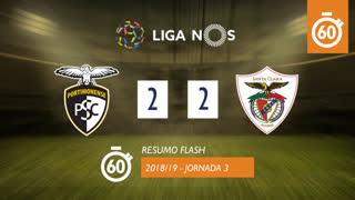 Liga NOS (3ªJ): Resumo Flash Portimonense 2-2 Sta. Clara