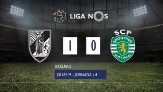 Liga NOS (14ªJ): Resumo Vitória SC 1-0 Sporting CP