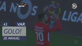 GOLO! Sta. Clara, Zé Manuel aos 43', CD Feirense 0-1 Sta. Clara