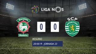 Liga NOS (23ªJ): Resumo Marítimo M. 0-0 Sporting CP