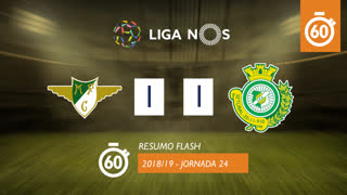 Liga NOS (24ªJ): Resumo Flash Moreirense FC 1-1 Vitória FC