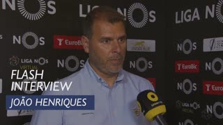 Liga (30ª): Flash Interview João Henriques